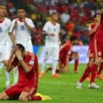 Ekspresi Kesedihan Pemain Spanyol