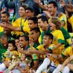 Tim Brasil saat tampil melawan Kroasia