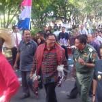 Walikota Kupang saat menyambut Menteri Koperasi dan UKM RI