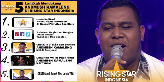 Dukung Andmesh Dalam Ajang Rising Star Indonesia