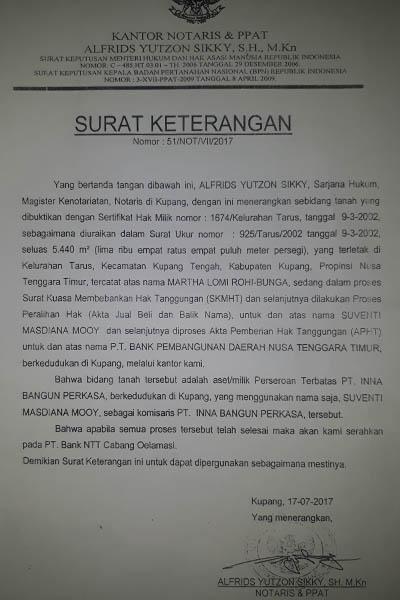 Surat Keterangan Dari Notaris