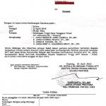 Surat Panggilan Saksi Untuk Dugaan Kasus Korupsi Pada Proyek Gedung NTT Fair (Klik Untuk Perbesar Foto)