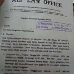 Bukti Pendaftaran Gugatan Oleh LBH ALF LAW OFFICE ke Pengadilan Negeri Oelamasi (Klik Untuk Perbesar)