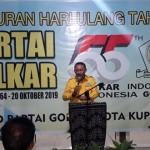 Jonas Salean Dalam Perayaan HUT Partai Golkar ke 55, Menyampiakan Niatnya Untuk Kembali Mencalonkan Diri Sebagai Walikota Kupang Pada Pilkada Mendatang