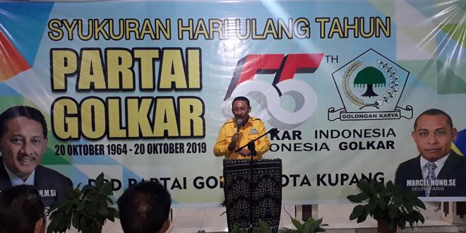 Jonas Salean Sang Calon Tunggal Walikota Kupang Dari Partai Golkar
