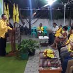 Jonas Salean Saat Memberikan Sambutan Dalam Acara Syukuran HUT Partai Golkar ke 55