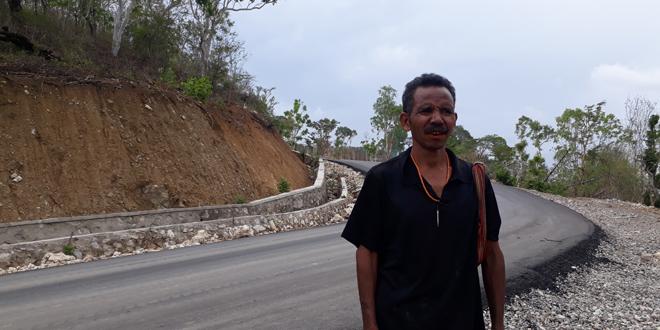 Naftali Baitanu, salah seorang warga Desa Oh-Aem Dua, Kecamatan Amfoang Selatan