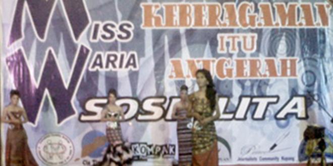 "Miss Waria Sosialita Kota Kupang Tahun 2014, Diraih ""Iren Lovely"""