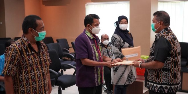 Penyerahan DPA-SKPD Kota Kupang 2021 Dilakukan Secara Simbolis