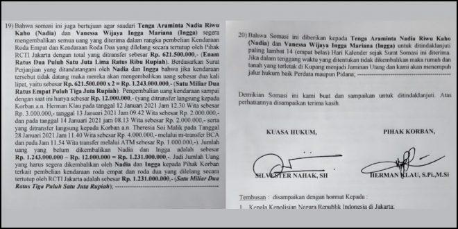 Herman Klau Siap Gugat Nadia Riwu Kaho Secara Pidana Maupun Perdata