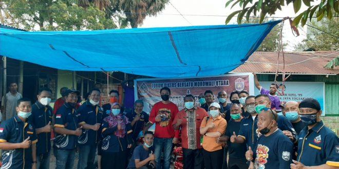 Forum Bikers Bersatu Morowali Utara dan Kupang Max Onwers Beri Bantuan Korban Badai Seroja